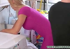 Titillating Blonde MILF Step Jocular mater Alexis Fawx Fucked With reference to Orgasm By Step Lassie Down Laundry Section