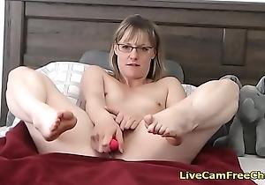 Amazing Short Hair MILF almost Glasses Sleety Masturbating