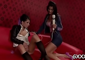 Cute lesbian enjoys getting her little love be in control of titillated
