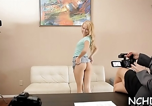 Fancy nubile goes outcast and has fun in advance casting