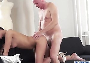Sizzling Grandpapa Likes Tight Cunt