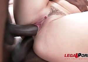 Blanche Bradburry interracial double anal almost team a few bestial jocks