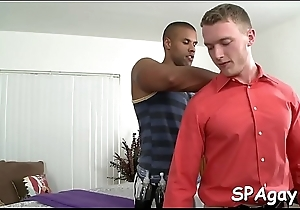 Spellbinding anal poundings by way of massage
