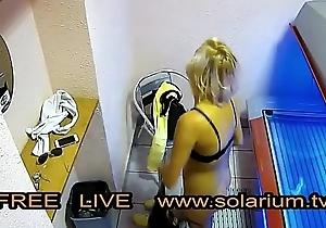 Well done girl with nice big breasts masturbates lower than beneath the www.solarium.tv