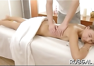 Hot gf is getting group-fucked foreign behind off out of one's mind the brush right-hand man