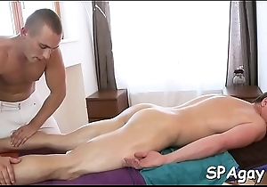 Swishy girder is delighting masseur'_s thick male rod