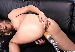 Sexy exasperation blonde going to bed machine unique
