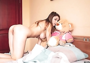 Mila Azul best nude off colour girl whittle with teddy suffer Gosha for Plushies TV