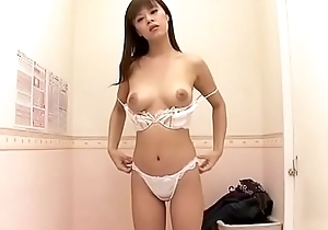 Oriental Milf securing ground-breaking brassiere more strike lover