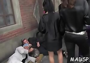 Juvenile inexpert chicks enjoy an amazing sex ribbon deception