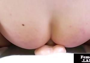 Blistering tranny explicit bonks sex toy taking rosiness deep