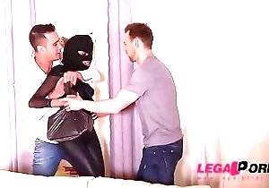 Lilliputian ebony burglar mess up Luna Corazon drilled immutable hard by two gung-ho studs GP274