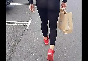 See skim through leggings. Mingy thong. Unerring ass