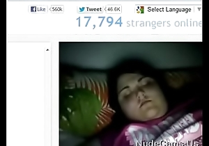 Fat Omegle sweeping sucks fingers and shows boobs