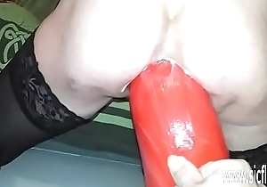 XXL anal fake penis screwed bush-league slut Anna