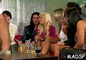 Lesbos enjoy some cock everyone time in a minute