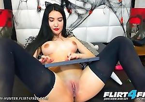 Nazanin Hunter - Flirt4Free - Hispanic Ambisexual Coddle close to Huge Pair DPs Her Sweet Tight Love Holes