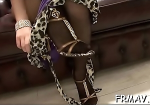 Two sexy japanese darlings tackle lucky stud'_s purblind wang