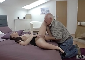 DADDY4K. Youthful playgirl liberally penetrated by skillful pater alongside bedroom