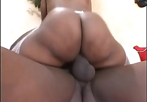 Bubble rear end ebony in fishnets gets their way twat licked vanguard fuck innings