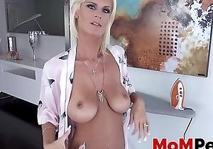 Marvelous MILF Olivia Blu sucking on obese stepson cock