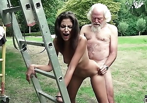 Procreate plays a making love sport with young girl they have big-busted sexy making love
