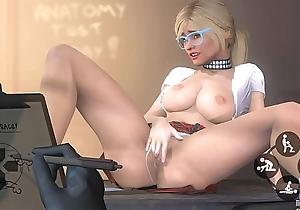 GTA 5 - Tracey De Santa masturbating push the teacher, Hot Coffee Porn MOD
