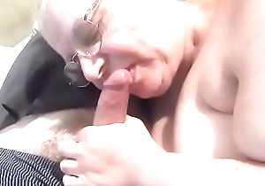Mother inlaw engulfing cock