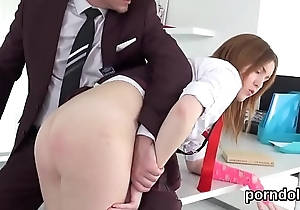Lovable schoolgirl is seduced together with plowed by senior instructor