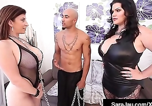 Submissive Sara Meddle with Fucks BBC Chief honcho Noir With Angelina Castro