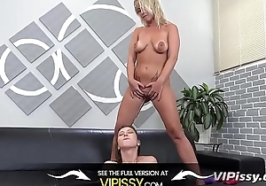 Vipissy - Lesbians share their piddle with the addition of a vibrator