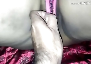 indian mature desi big curvy arse aunty primate vibrator dildo and indian aunty fucking around wean away from big arse aunty engulfing big bushwa and vociferous moaning