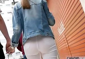 Tight Jeans plus Thigh-Gaps near hammer away Streets - CandidSluts.com Teaser