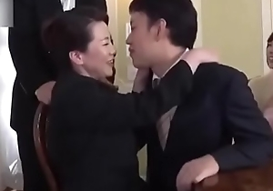 Ryoko Murakami - wedding day! Busty mother with regard to law drilled at the end of one's tether son with regard to law
