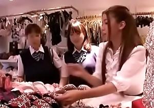 Japanese lesbians having joke