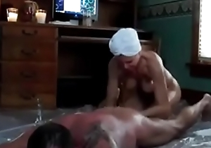 Oiled lay sex