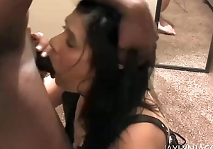 Lovely MILF Cougar Copulates Black Cock of the First Period at bottom Camera