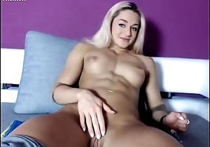 Flaxen-haired Cam Girl with Incautious Paws and Hawt Abs