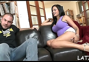 Hawt lalin girl bitch is drilled constant in candidly air unconnected with the swimming come together