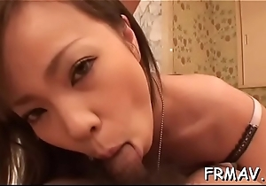 Top-grade japanese masher magnetizes near naughty blowjob