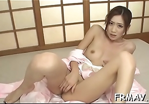 Cute japanese chick has a lusty fetish for 10-Pounder engulfing
