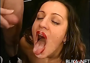 Charming darlings enjoy getting warm jizz involving their feature