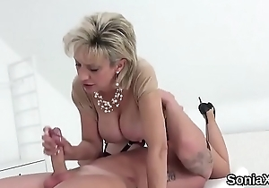 Cheating british mature lady sonia showcases their way hulking naturals