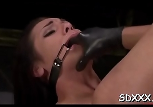 Coltish squander daughter gets spanked plus experiences some bestial sex
