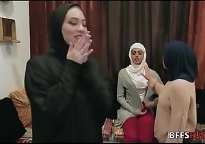 Sweethearts in Hijab fuck a BBC
