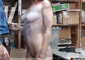 Brunette Shoplifter seduces LP officer