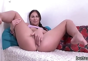 Luscious half-nude tight girl receives drilled in spread rectal hole