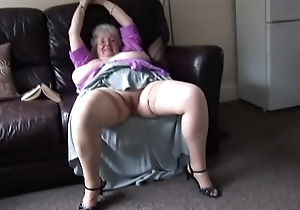 Full-grown granny less massive tits with the addition of hairy herb rapine with the addition of teasing