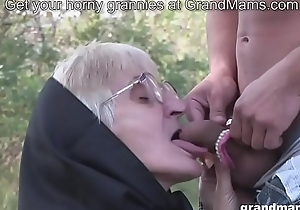 Most assuredly old granny blowjob easy as pie teeth added to hairy wet crack