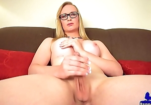 Gorgeous spex transsexual tugging her hard taproom